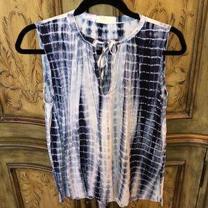 Just Living tye dye sleeveless blouse